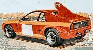 The Abarth SE030 Montecarlo Prototype - artists impression