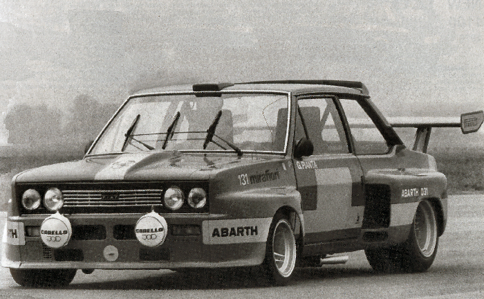 The 131 Abarth 031 1975 - Picture Courtesy of the Fiat Archive, Turin